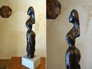 HELENE   Bronzeskulptur aus Sandstein   52cm